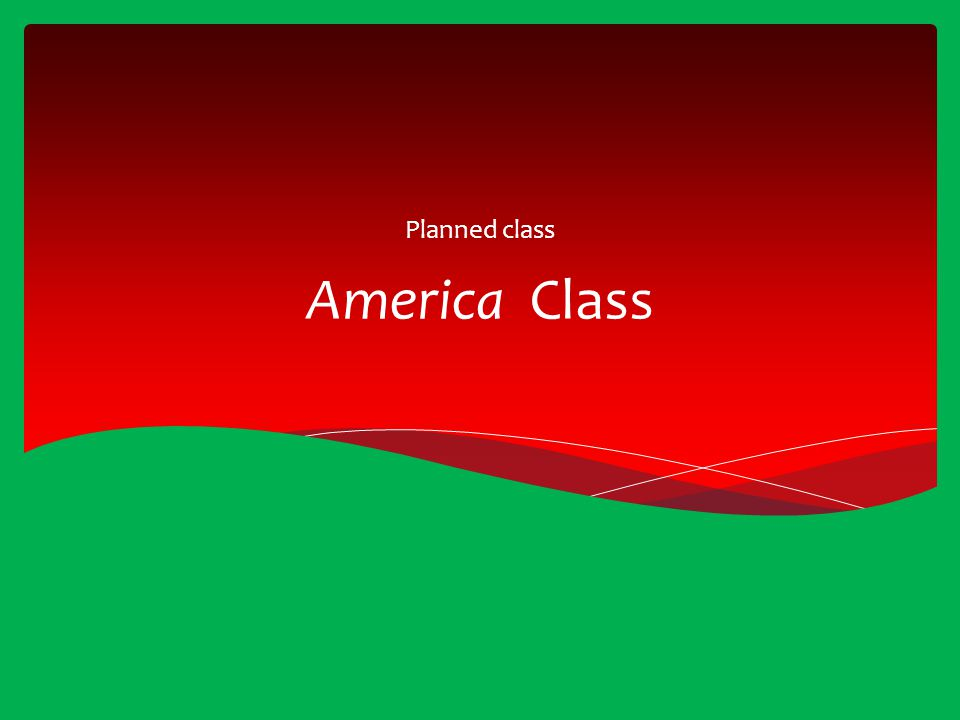 Planned class America Class