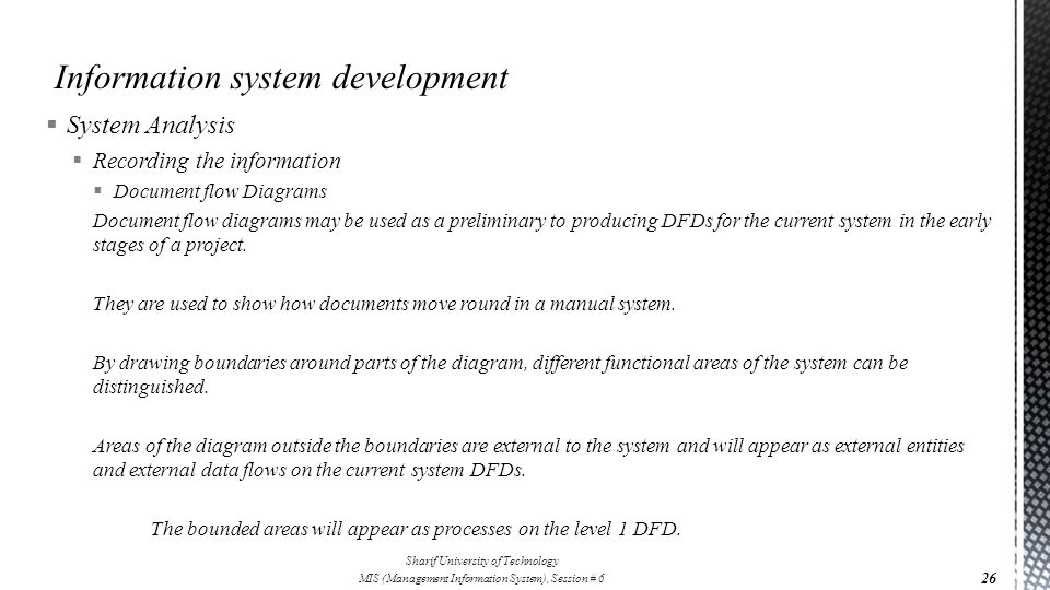 Information system development