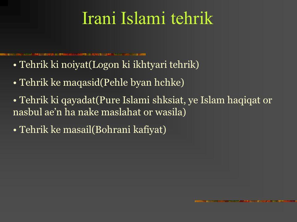 Irani Islami tehrik Tehrik ki noiyat(Logon ki ikhtyari tehrik)