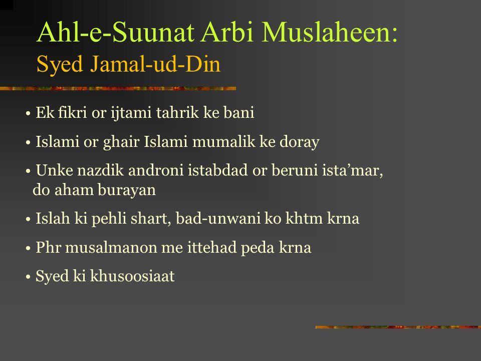 Ahl-e-Suunat Arbi Muslaheen: Syed Jamal-ud-Din