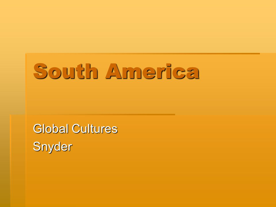 Global Cultures Snyder