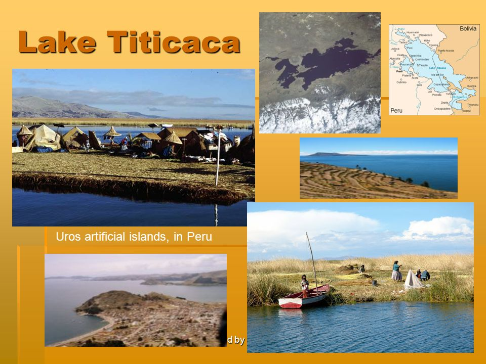 Lake Titicaca Uros artificial islands, in Peru