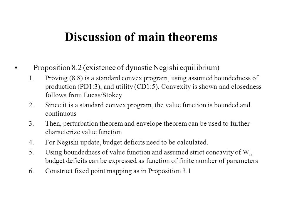 Discussion of main theorems