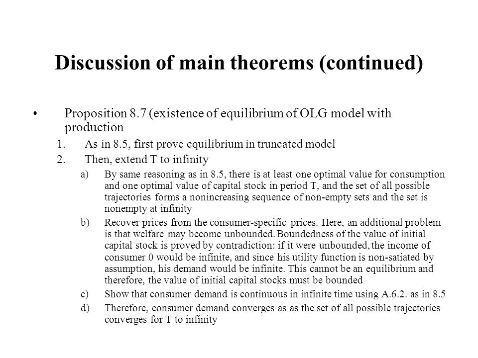 Discussion of main theorems (continued)