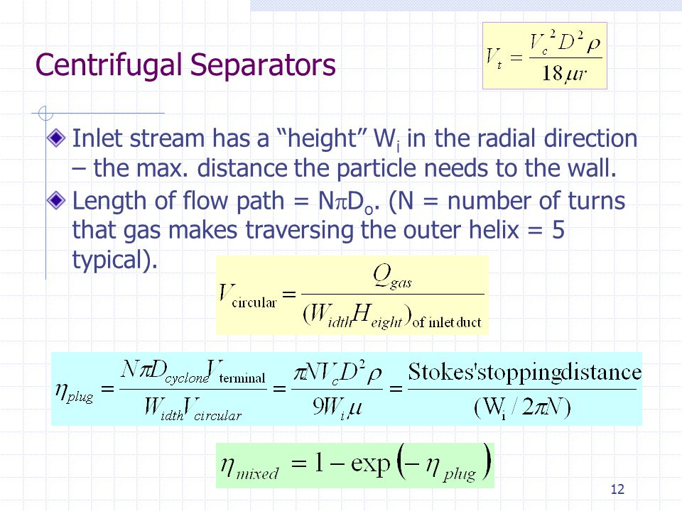 Centrifugal Separators