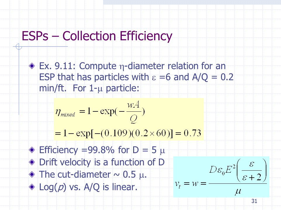 ESPs – Collection Efficiency
