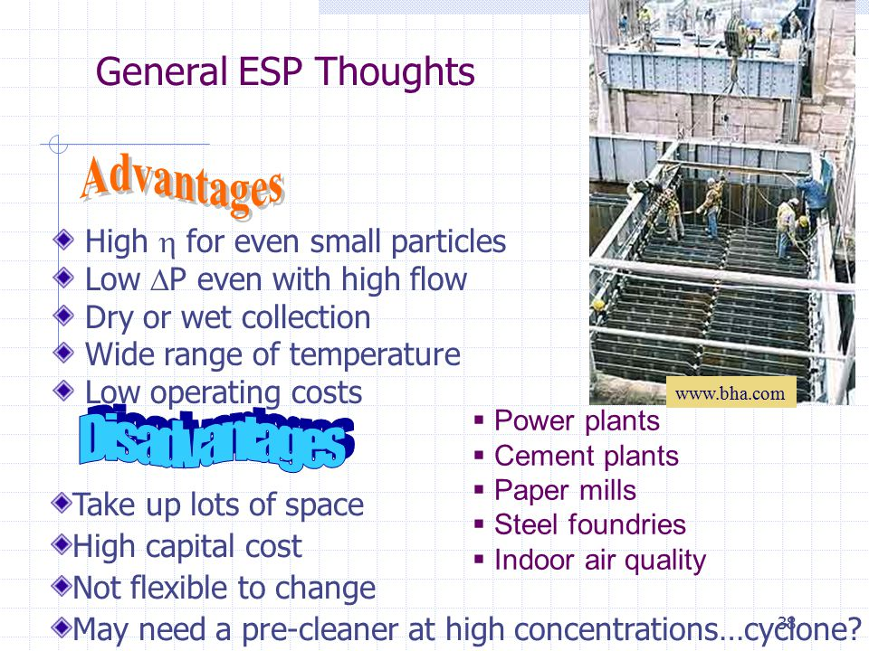 Advantages Disadvantages General ESP Thoughts