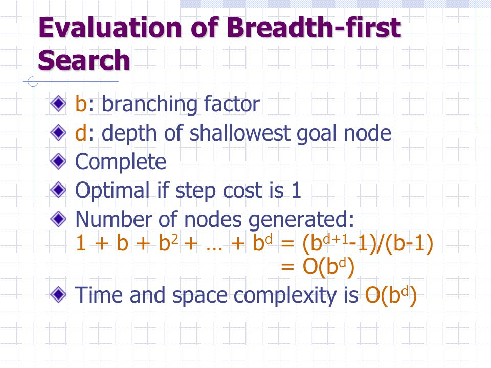 Evaluation of Breadth-first Search