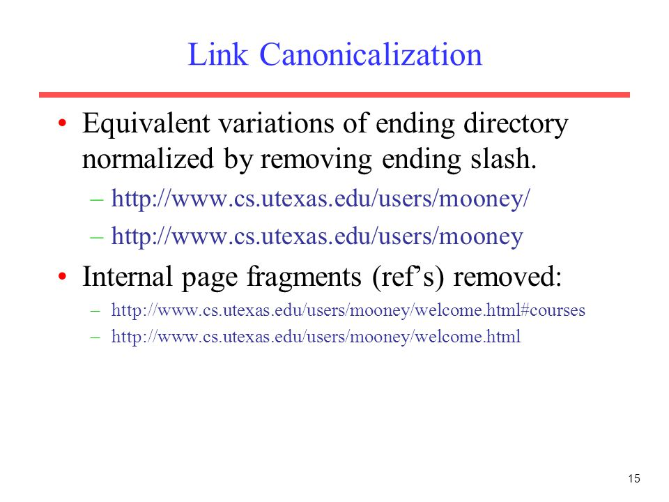 Link Canonicalization