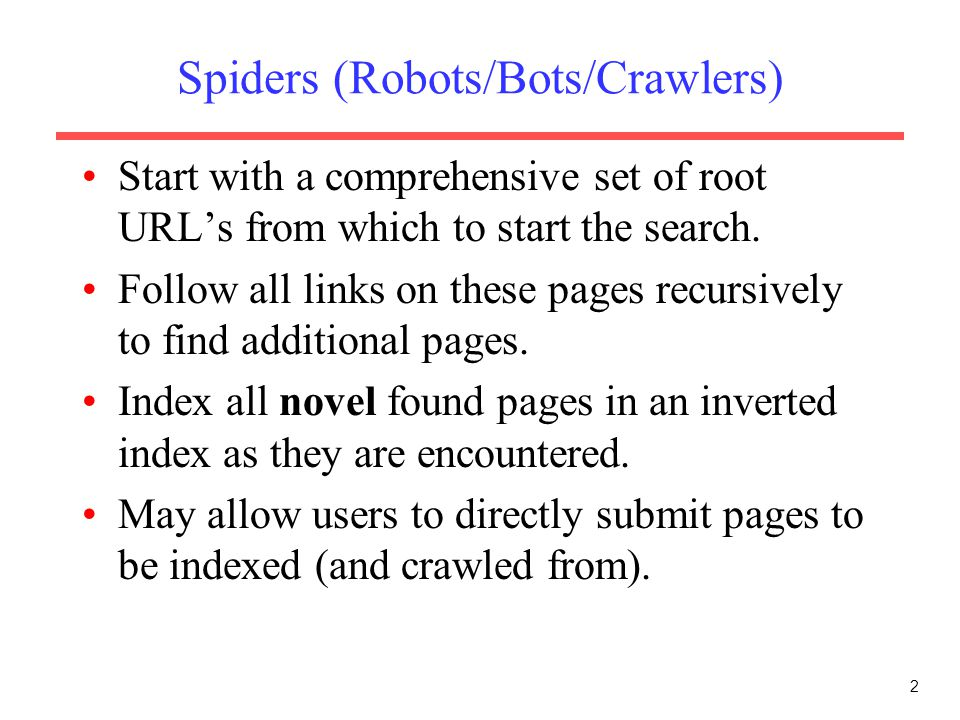 Spiders (Robots/Bots/Crawlers)