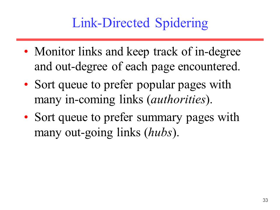 Link-Directed Spidering