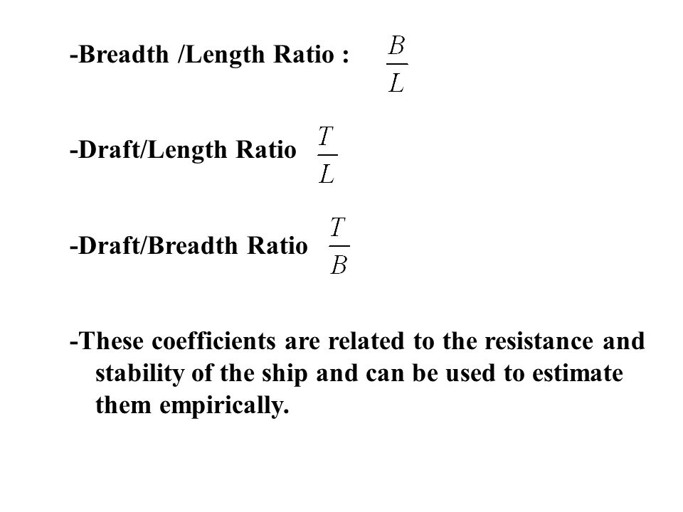 -Breadth /Length Ratio :