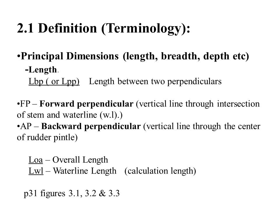 2.1 Definition (Terminology):