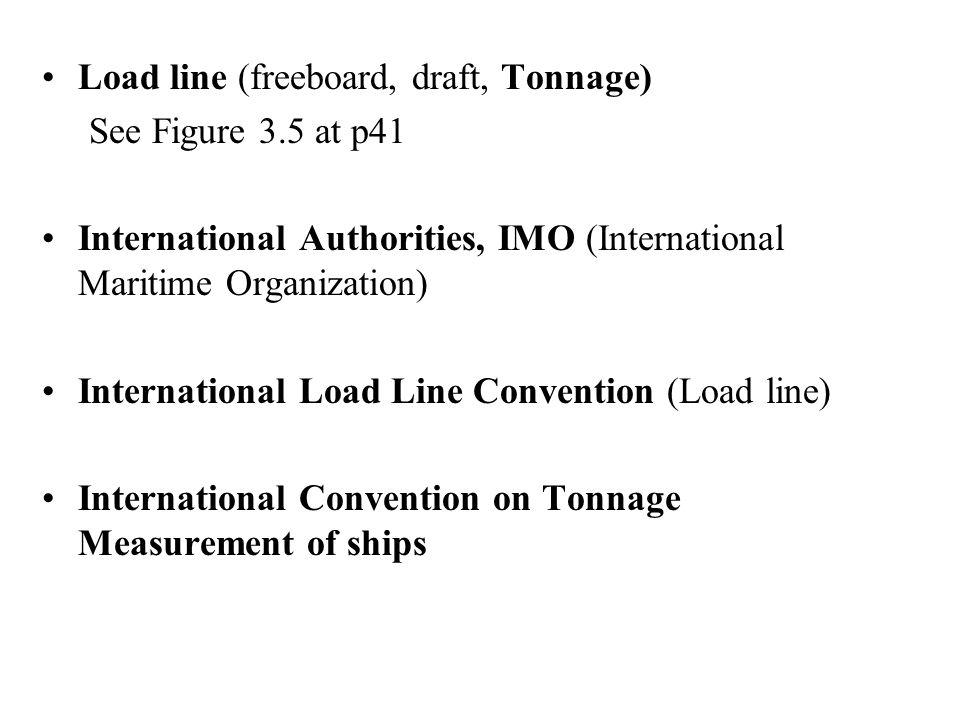 Load line (freeboard, draft, Tonnage)