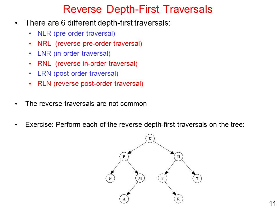 Reverse Depth-First Traversals