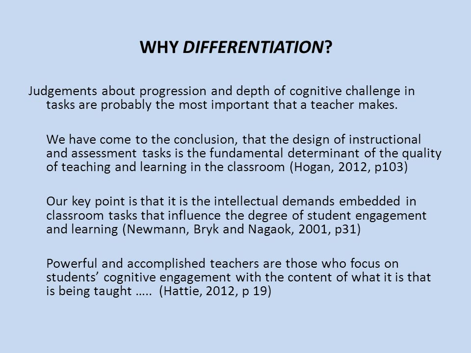 WHY DIFFERENTIATION