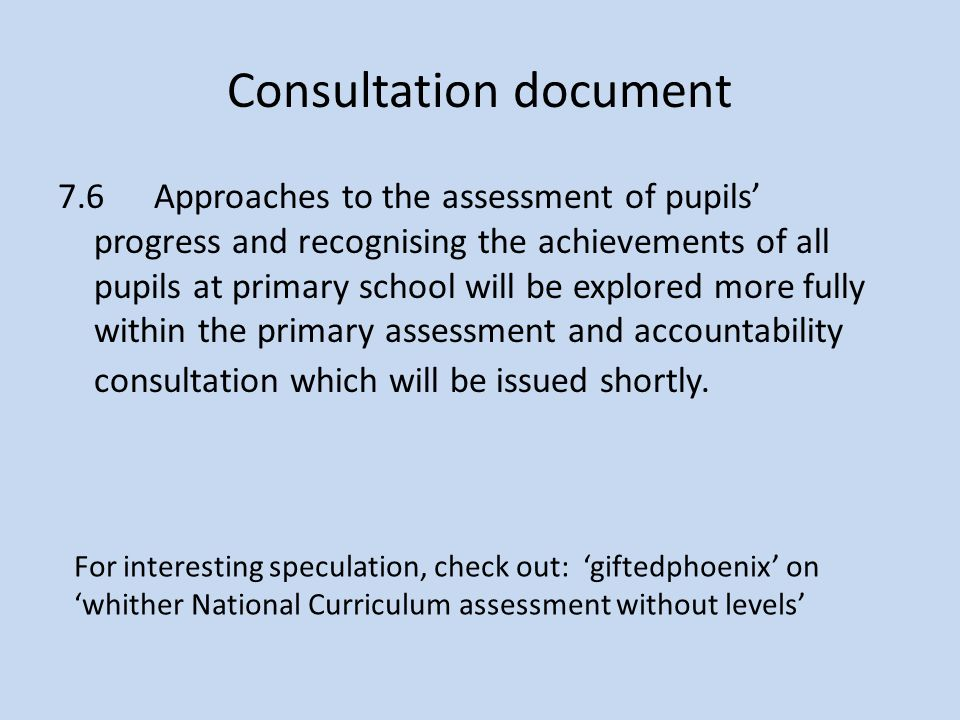 Consultation document