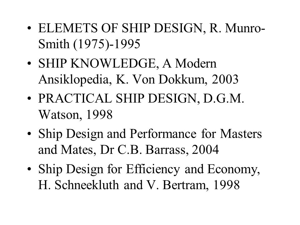 ELEMETS OF SHIP DESIGN, R. Munro-Smith (1975)-1995