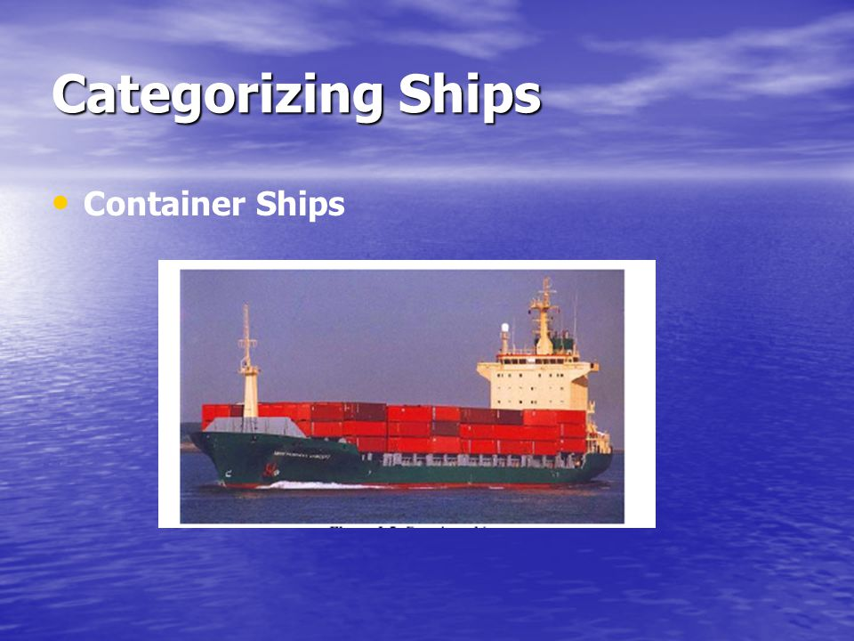 Categorizing Ships Container Ships