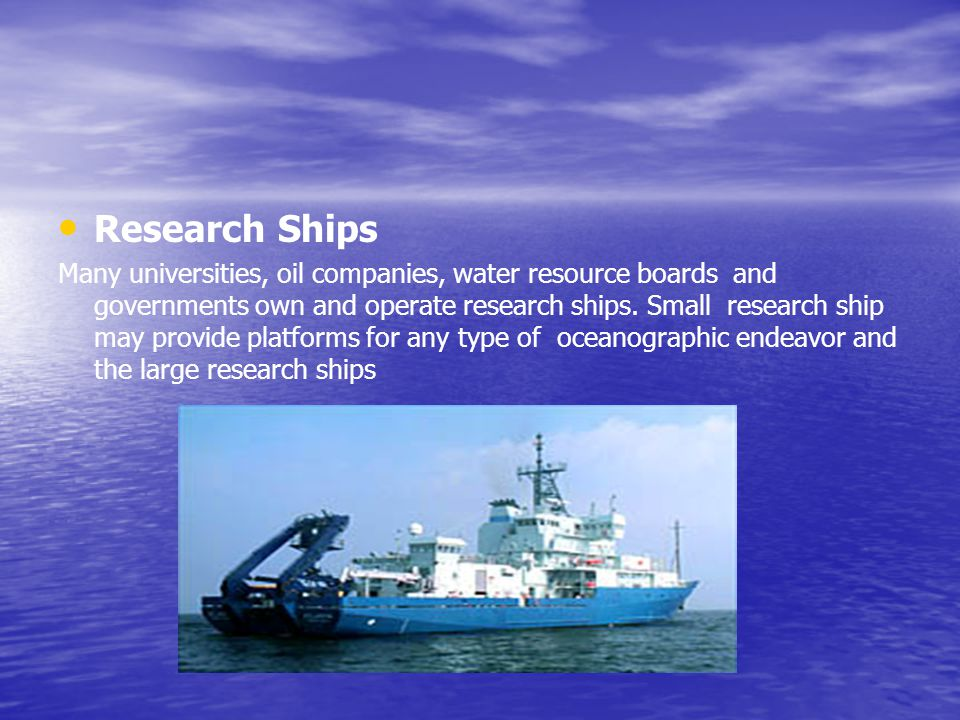 Research Ships