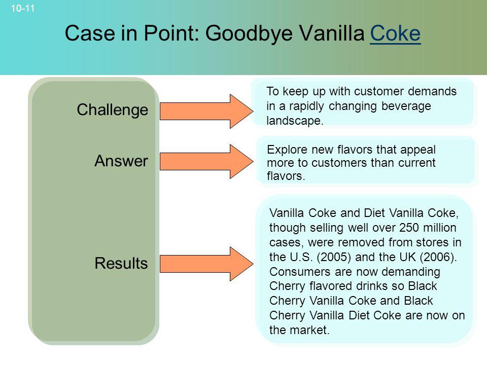 Case in Point: Goodbye Vanilla Coke