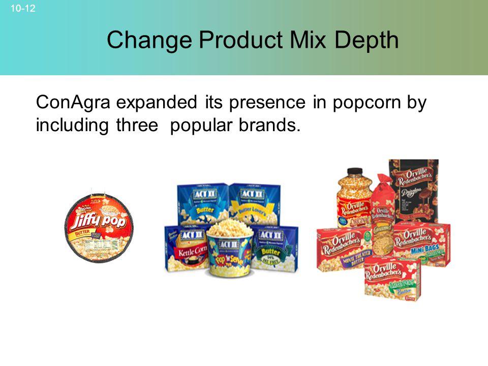 Change Product Mix Depth