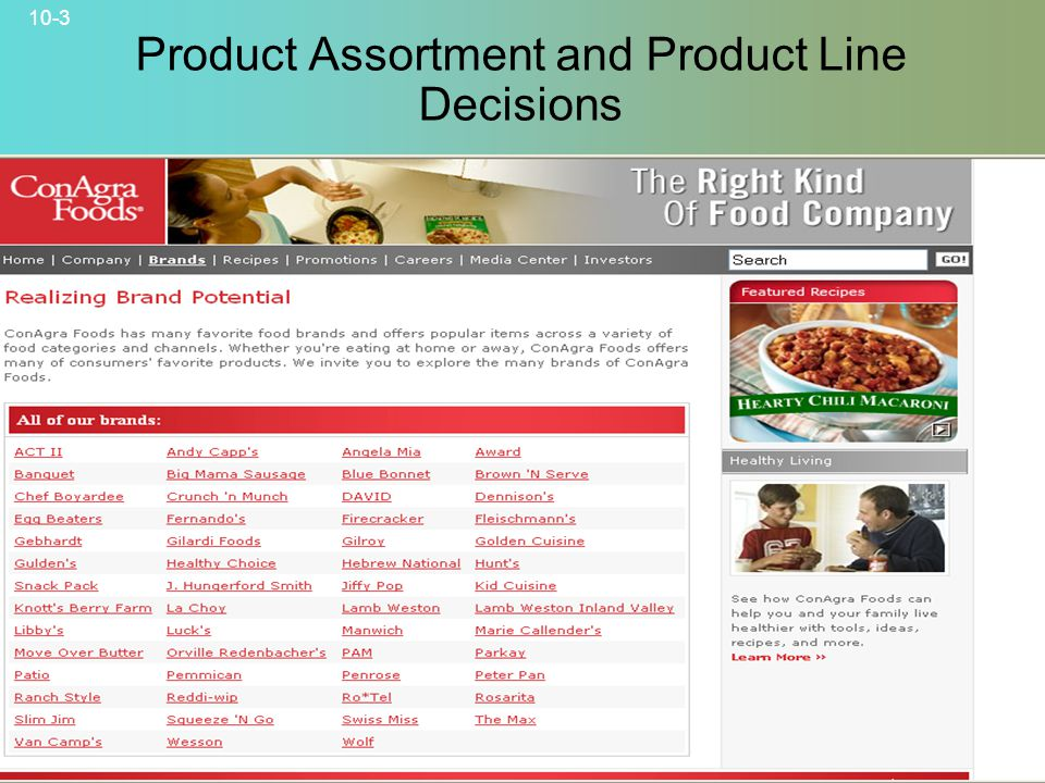 Product Assortment and Product Line Decisions