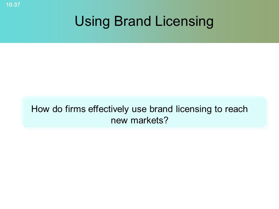How do firms effectively use brand licensing to reach new markets