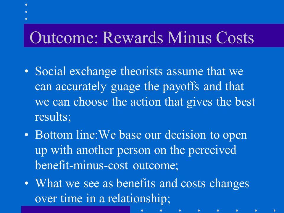 Outcome: Rewards Minus Costs