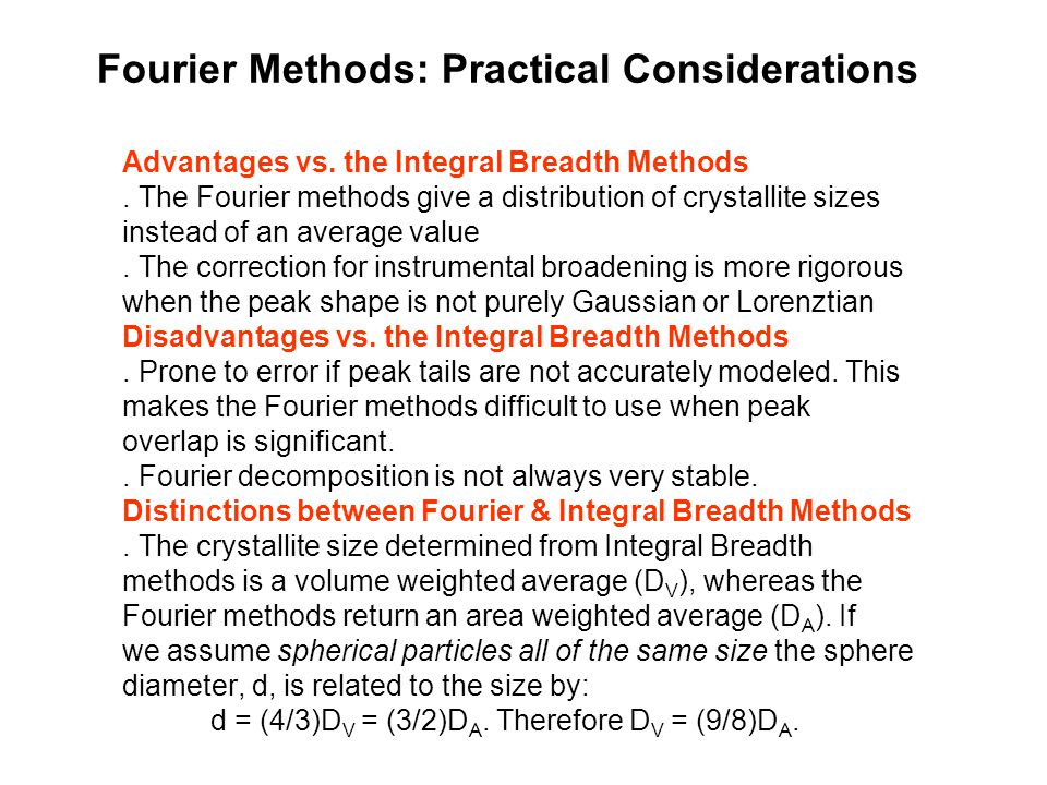 Fourier Methods: Practical Considerations