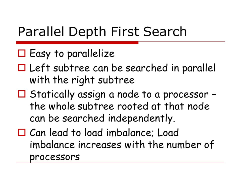 Parallel Depth First Search