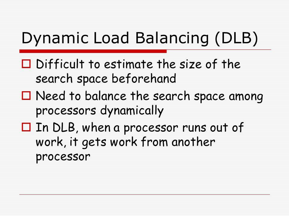 Dynamic Load Balancing (DLB)