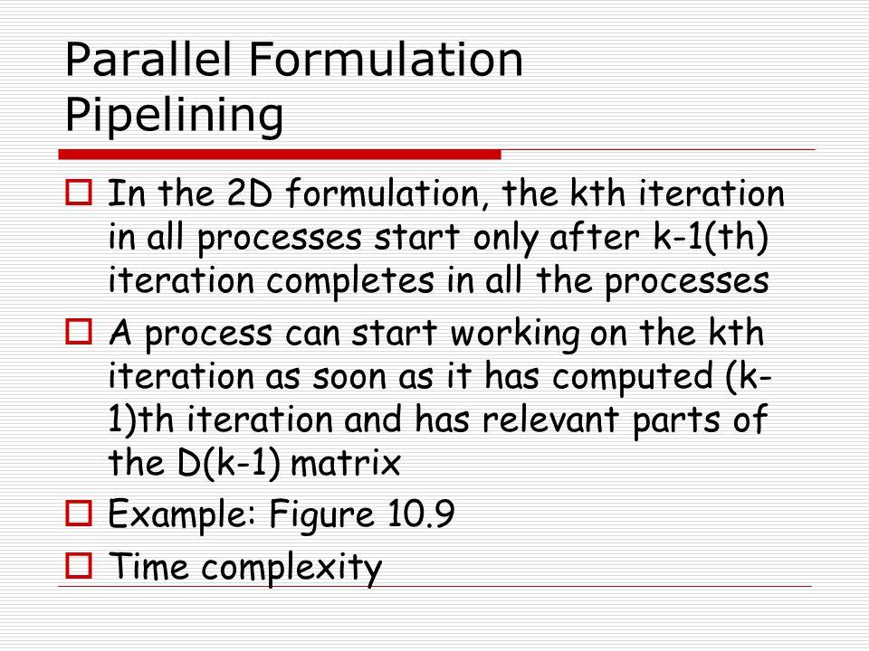 Parallel Formulation Pipelining