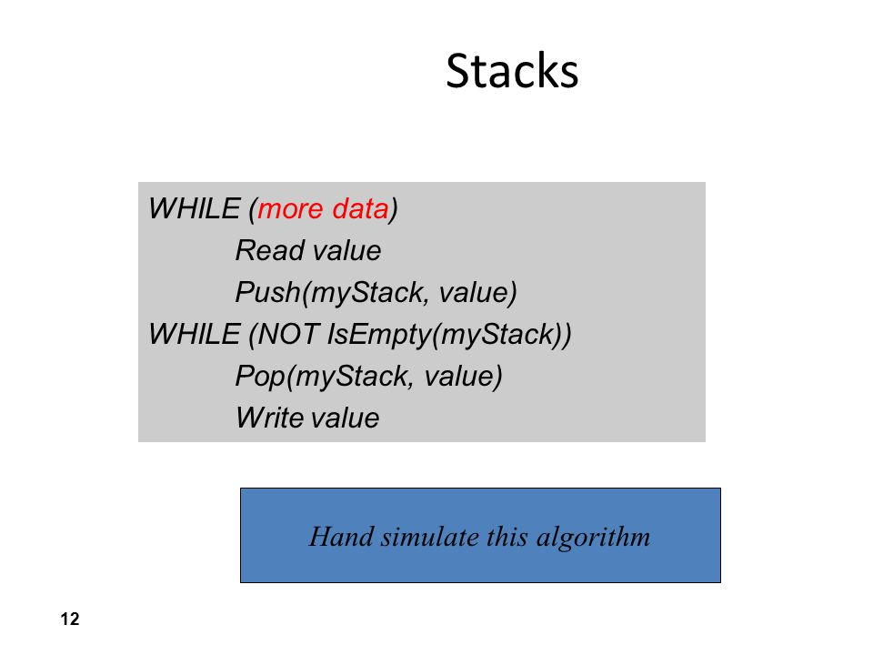 Hand simulate this algorithm