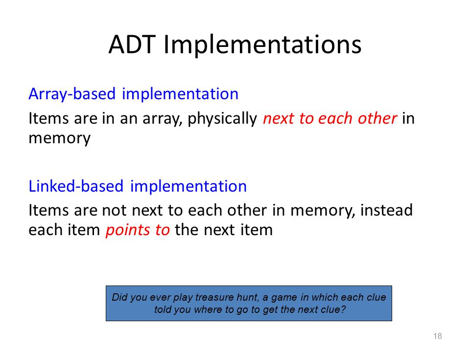 ADT Implementations