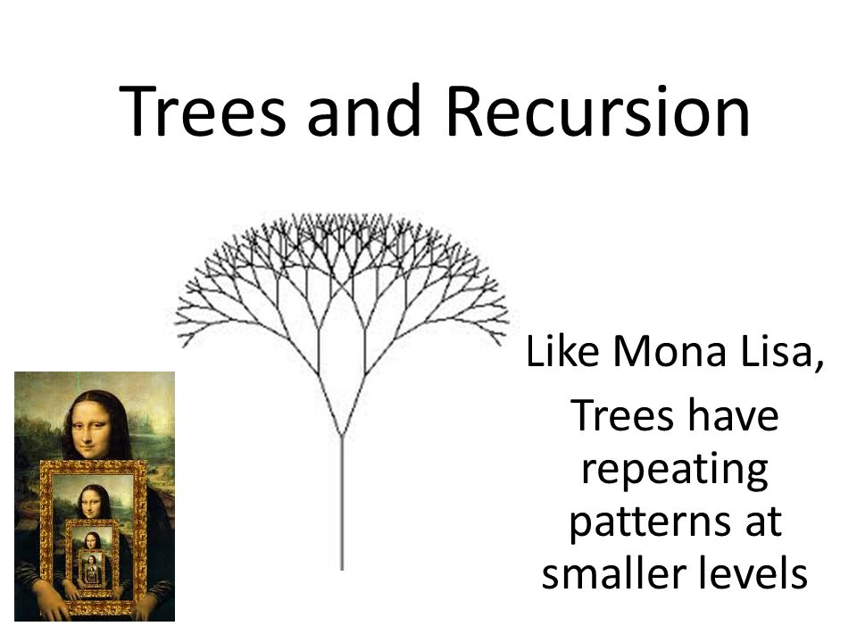 Like Mona Lisa, Trees have repeating patterns at smaller levels