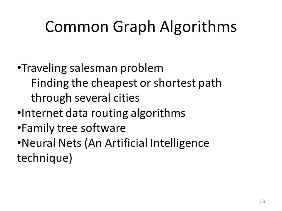 Common Graph Algorithms