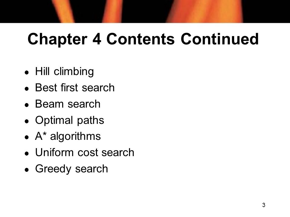 Chapter 4 Contents Continued