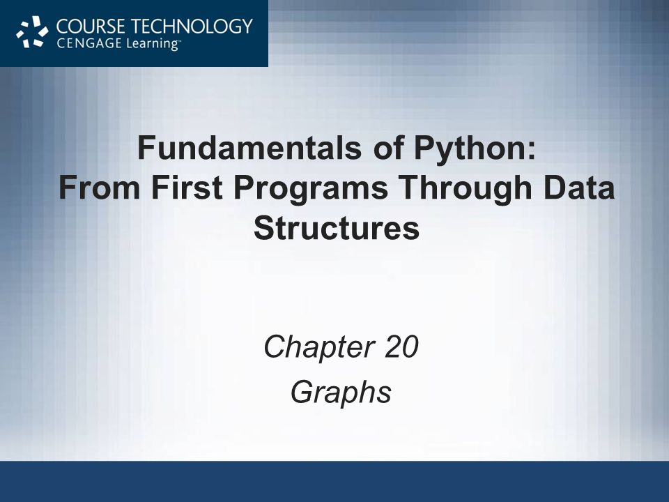 Fundamentals of Python: From First Programs Through Data Structures