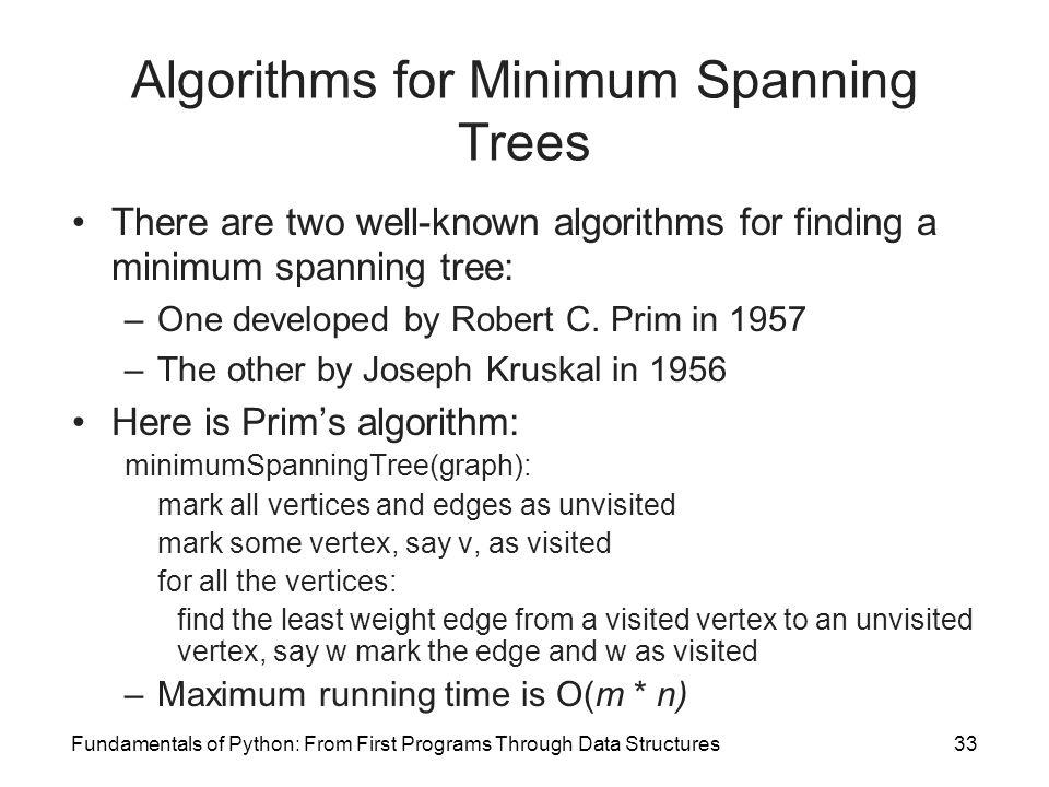 Algorithms for Minimum Spanning Trees