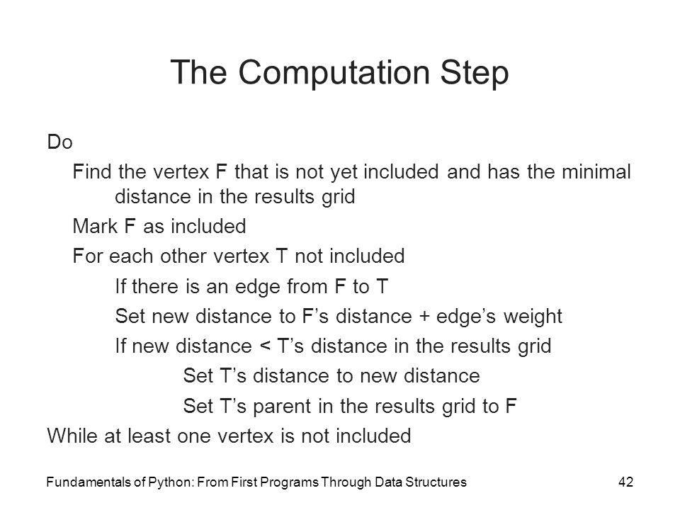 The Computation Step Do