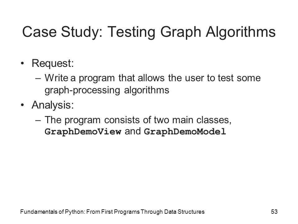 Case Study: Testing Graph Algorithms