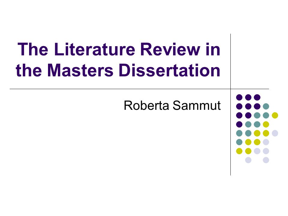 Literature Review in a Masters Dissertation   YouTube Allstar Construction