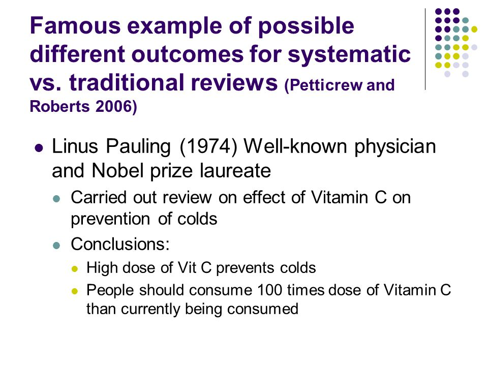 Famous example of possible different outcomes for systematic vs