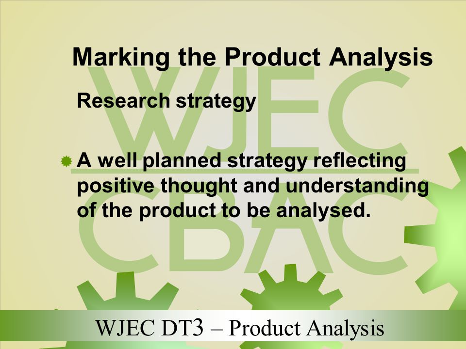 Marking the Product Analysis