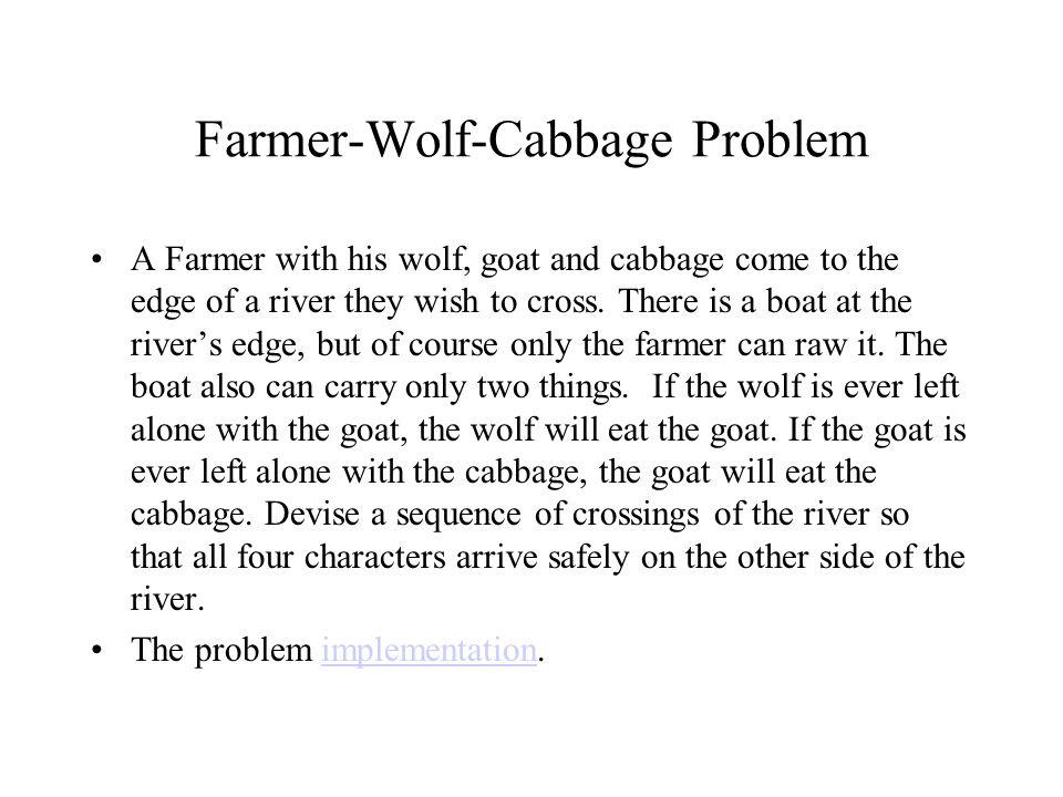 Farmer-Wolf-Cabbage Problem