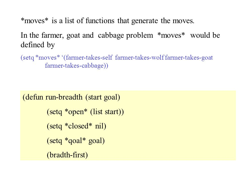 *moves* is a list of functions that generate the moves.