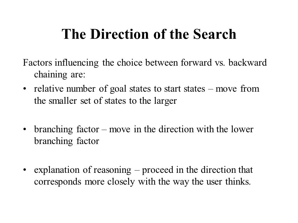 The Direction of the Search