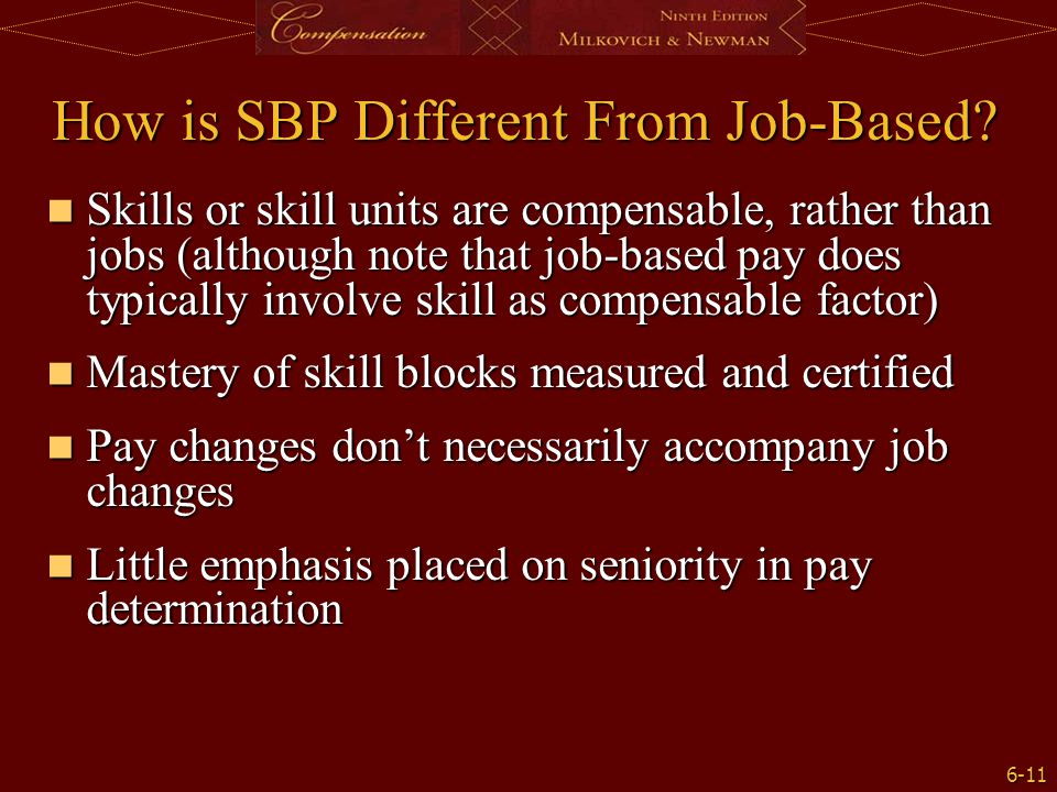 How is SBP Different From Job-Based