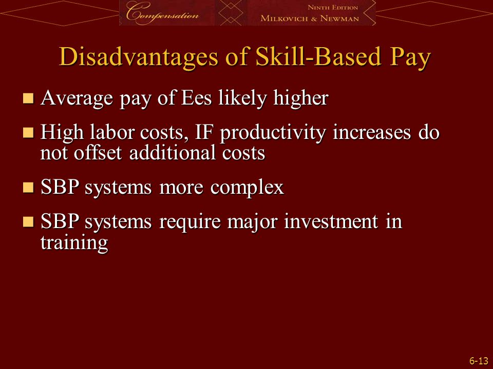 Disadvantages of Skill-Based Pay